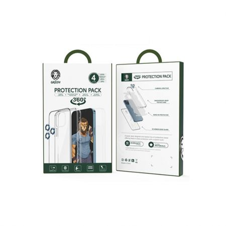 Green Lion 4 In 1 Protection Pack for iphone 12/12 Pro