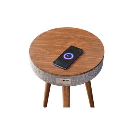 Yun Cube Portable Bluetooth Coffee Table Speaker With Wireless Charging